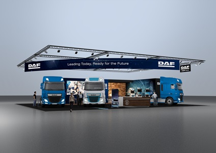 DAF Trucks at Solutrans Exhibition in Lyon